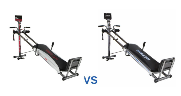 Total gym 1400 vs 1600 compare models