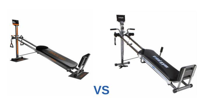 Total gym force vs 1600 product comparison