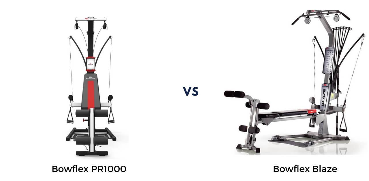 Bowflex Blaze vs PR1000