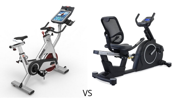 exercise bikes vs spin bikes